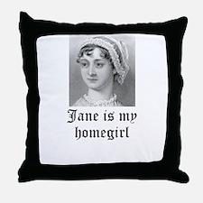Jane Austen homegirl Throw Pillow