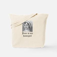 Jane Austen homegirl Tote Bag