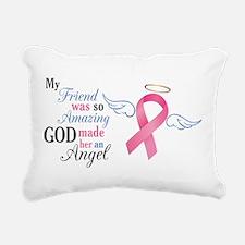 My Friend An Angel - Rectangular Canvas Pillow
