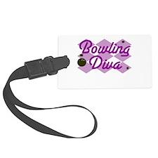 Bowling Diva Luggage Tag