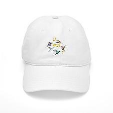 HUMMINGBIRDS AND TRUMPET PLANT Baseball Cap