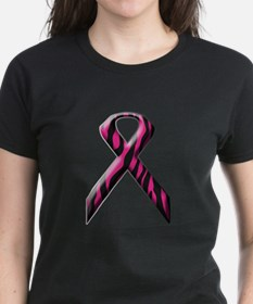 Pink Zebra Print Breast Cancer Awareness Ribbon Wo
