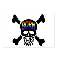 Born This Way Rainbow Skull Postcards (Package of