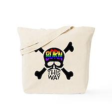 Born This Way Rainbow Skull Tote Bag