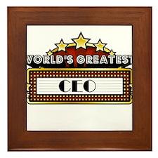 World's Greatest CEO Framed Tile