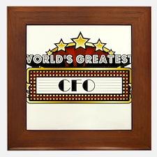 World's Greatest CFO Framed Tile