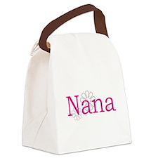 Nana Name Pink Canvas Lunch Bag