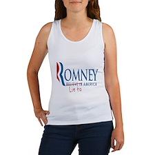 Romney - Lie to America Shirt Women's Tank Top