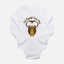 Owl Always Love You Long Sleeve Infant Bodysuit