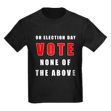 Vote none of the above T