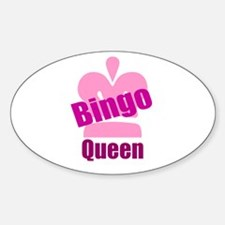 Bingo Queen Sticker (Oval)