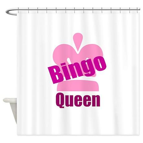 Bingo Queen Shower Curtain