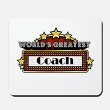 World's Greatest Coach Mousepad