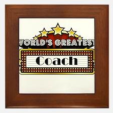 World's Greatest Coach Framed Tile