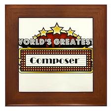 World's Greatest Composer Framed Tile