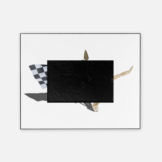Waving Checkered Flag Picture Frame