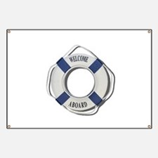 Welcome Aboard Life Preserver Banner