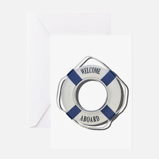Welcome Aboard Life Preserver Greeting Card