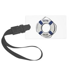 Welcome Aboard Life Preserver Luggage Tag