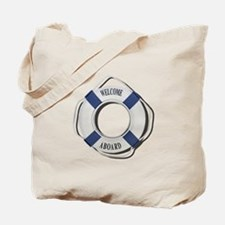 Welcome Aboard Life Preserver Tote Bag
