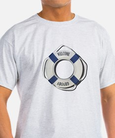 Welcome Aboard Life Preserver T-Shirt