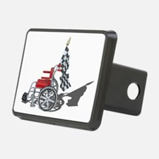 Checkered Flag and Wheelchair Hitch Cover