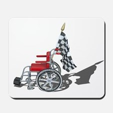 Checkered Flag and Wheelchair Mousepad