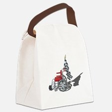 Checkered Flag and Wheelchair Canvas Lunch Bag