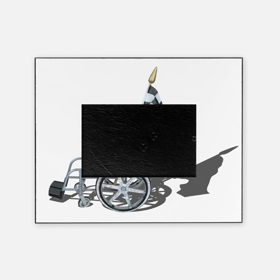 Checkered Flag and Wheelchair Picture Frame