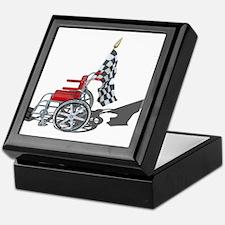 Checkered Flag and Wheelchair Keepsake Box