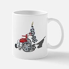 Checkered Flag and Wheelchair Mug