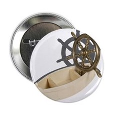 """Ship Wheel Wooden Boat 2.25"""" Button (10 pack)"""