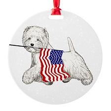 Patriotic Westie Ornament