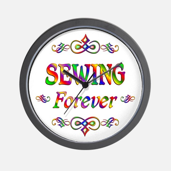 Sewing Forever Wall Clock
