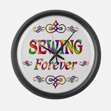 Sewing Forever Large Wall Clock