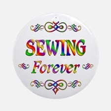 Sewing Forever Ornament (Round)