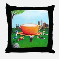 Coffee Is God Throw Pillow