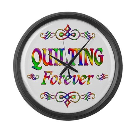 Quilting Forever Large Wall Clock