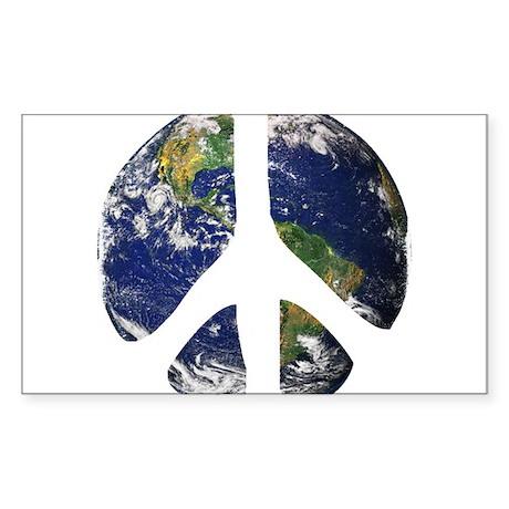 World Peace Sticker (Rectangle)