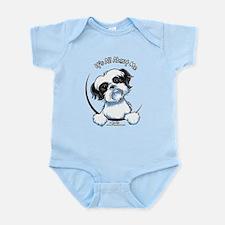 B/W Shih Tzu IAAM Infant Bodysuit