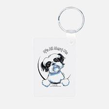 B/W Shih Tzu IAAM Keychains