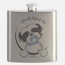 B/W Shih Tzu IAAM Flask