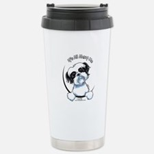B/W Shih Tzu IAAM Stainless Steel Travel Mug