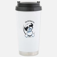 B/W Shih Tzu IAAM Travel Mug