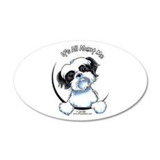 B/W Shih Tzu IAAM Wall Decal