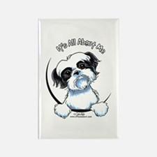 B/W Shih Tzu IAAM Rectangle Magnet