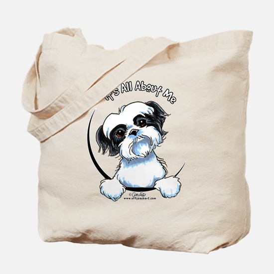 B/W Shih Tzu IAAM Tote Bag