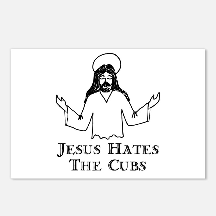Jesus Hates The Cubs Postcards (Package of 8)