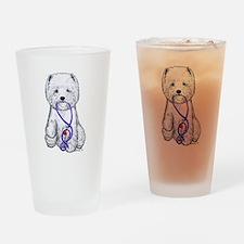 Westie Walkie Drinking Glass