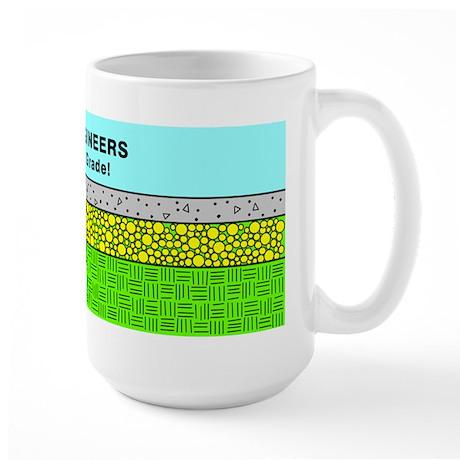 Civil Engineers green & blue Large Mug
